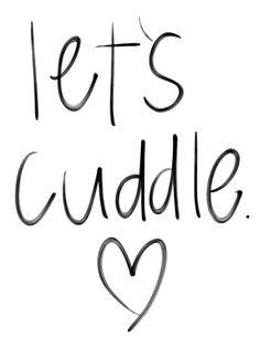 """/ / """"Let's cuddle"""" / / Coeur / / A la main / / Noir & Blanc / /"""