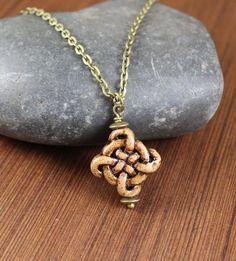 Ceramic Celtic Knot necklace  Outlander inspired  by KLFStudio