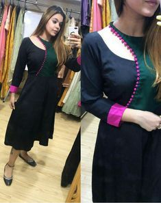 Kurti Neck Design - Source by momandboyfatimafarhan - New Kurti Designs, Churidar Neck Designs, Kurta Designs Women, Kurti Designs Party Wear, Kurti Back Neck Designs, Plain Kurti Designs, Neck Designs For Suits, Sleeves Designs For Dresses, Neckline Designs