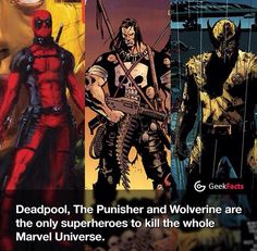 Deadpool the punisher wolverine marvel universe facts