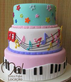 Music Wedding Cakes, Fake Wedding Cakes, 1st Birthday Cakes, 2nd Birthday Parties, Bolo Musical, Music Party Decorations, Baby Music, 1st Birthdays, Amazing Cakes