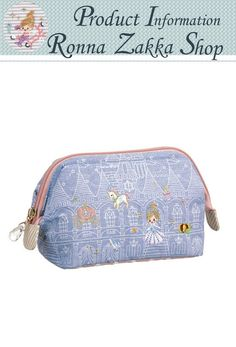 New Japan Fairy Tale embroidery Cinderella in palace zipped cosmetic bag Kawaii Stuff, Cute Japanese, Cosmetic Bag, Fairytale, Palace, Cinderella, Zip Around Wallet, Embroidery, Best Deals