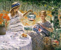 Helen M. Turner - Lillies, Lanterns, and Sunshine – 1923  http://www.arteeblog.com/2015/10/monet-e-impressionismo-americano.html