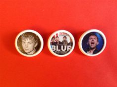 BLUR Damon Albarn button badges Set of 3 Unique and by FuNkTjUnK