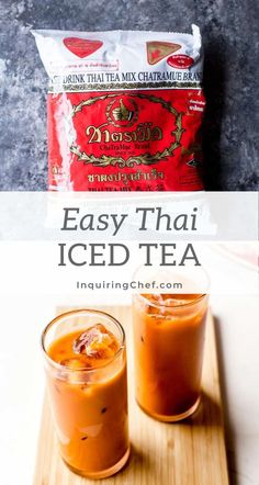 How to make authentic Thai Iced Tea just like they serve in Bangkok Thai Tea Recipes, Iced Tea Recipes, Easy Drink Recipes, Coffee Recipes, Yummy Drinks, Dessert Recipes, Cooking Recipes, Smoothie Drinks, Smoothie Recipes