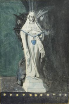 Leon Spilliaert (1881 - 1946) - Notre-Dame With the Blue Heart, 1907