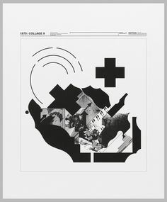 Wolfgang Weingart (Designer), Print, 1975; Collage 9, 1975