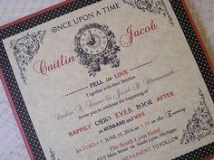 Fairytale Wedding Invitation  Vintage Style by DebbieCroweDesigns, $50.00
