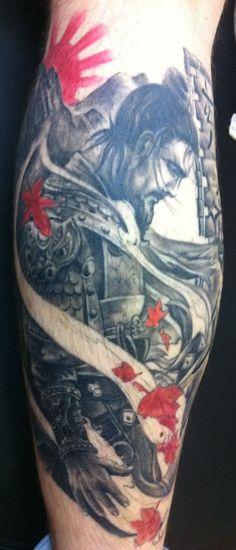 tatuagem de Samurai 2