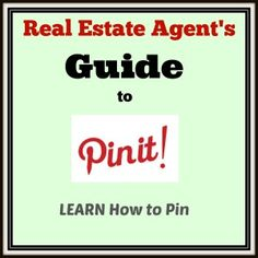 Discover how to Pin! This is a great resource if you are just starting with Pinterest! #realestate #agents #pinterest