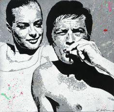 Romy Schneider & Alain Delon by Jef Aérosol