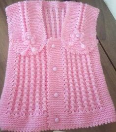 cutest baby vests – My CMS Crochet Baby Dress Free Pattern, Baby Cardigan Knitting Pattern, Baby Knitting Patterns, Knitting For Kids, Crochet For Kids, Knit Crochet, Knitted Baby Clothes, Cross Stitch Baby, Crochet Videos