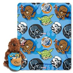 Lucas Films Star Wars Chewie Plush Character Pillow and Fleece Throw Blanket Set 1140 x 50 -- More info could be found at the image url.-It is an affiliate link to Amazon. #DecorativePillowsInsertsCovers