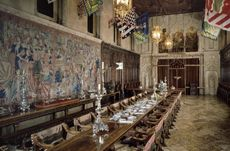 Hurst Castle Dining Hall. Spectacular! Harry Potter's Dining Hall at Hogwarts was modeled after this great hall.