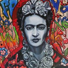 "Saatchi Art Artist Lize Du Plessis; Painting, ""Commission 1/10 Paintings - Graffiti Frida"" #art"