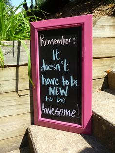 Chalkboard in Raspberry by ReFindStyle on Etsy