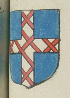 Jacques DU TOUR, prestre curé de la chapelle du Genet. Porte : d'azur, à une croix d'argent frettée de gueules | N° 100