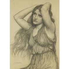 thetranscendentalmodernist:  Flora - Drawing - John William Waterhouse