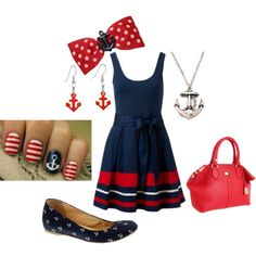 """""""Navy Wife"""" by kaitepowell on Polyvore"""