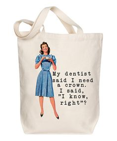 Look what I found on #zulily! 'I Need a Crown' Tote #zulilyfinds