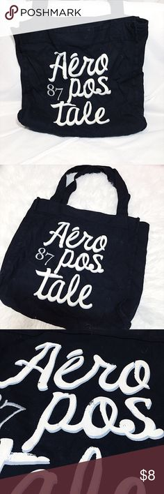 Aeropostale Canvas Tote Bag Great condition! Great for carrying a lot of stuff Aeropostale Bags Totes