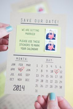 Super easy DIY save the dates... and they're so adorable! Thanks for this tech-savvy idea, @jencarreiro! | http://www.weddingpartyapp.com/blog/2014/11/04/diy-projects-for-the-tech-savvy-bride-groom/