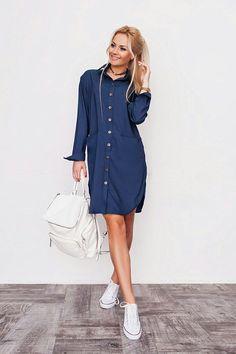 """Стильное джинсовое платье-рубашка : продажа, цена в Одессе. платья женские от """"Интернет-магазин стильной одежды """"x04y"""""""" - 476066101"""