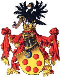 ca 1400 opkomst van de familie De Medici  Het familiewapen.