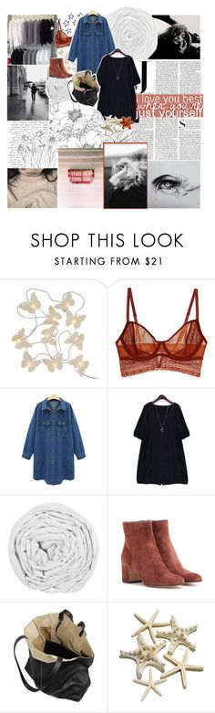 """""""♡ SINCE WE'RE ALONE"""" by thundxrstorms ❤ liked on Polyvore featuring Laura Ashley, Intimately Free People, Vanity Fair, The Fine Bedding Company, Gianvito Rossi and Proenza Schouler"""