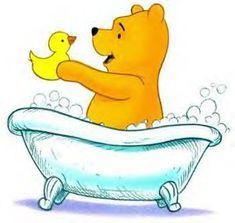 RubaDubDub it's Pooh bath-time