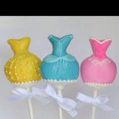 Disney princess cake pops!!!