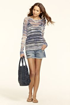 Spring Summer 2012 Calypso Celle St. Barth - Tissi Space Dyed Linen Sweater  by OF TWO MINDS