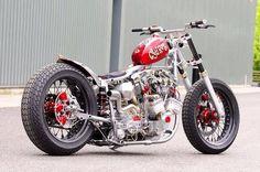 Custombike Champion Shovelhead, GAS'D RAT   Rocket Bobs