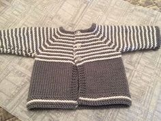 Easy to knit little baby cardigan jacket.