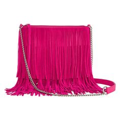 Fringe benefits. This just might be the perfect handbag for summer! The bright color and fringe detailing are right on trend this season. It's spacious enough for all your essentials, and the crossbody design makes it easy to grab and go.