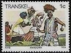 1984 Transkei - Amagqira witch dance of the Xhosa tribe Witches Dance, Love Stamps, Vintage Stamps, Stamp Collecting, Best Mom, Homeland, South Africa, Landscape Photography, Culture