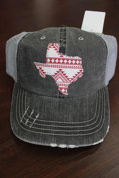 Rhinestone Aztec Texas Trucker Hat