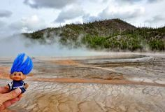 Trolls with the steam and mud of Yellowstone National Park.