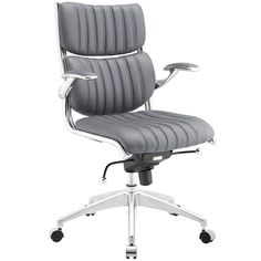 Shop a great selection of Modway Escape Ribbed Faux Leather Ergonomic Computer Desk Office Chair Gray. Find new offer and Similar products for Modway Escape Ribbed Faux Leather Ergonomic Computer Desk Office Chair Gray.