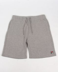 14a3714fe1 Fila Vintage Viktor Fleece Shorts Grey Marl Fila Shorts
