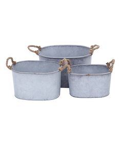 Look at this #zulilyfind! Iron Rectangular Planter Set by UMA Enterprises #zulilyfinds