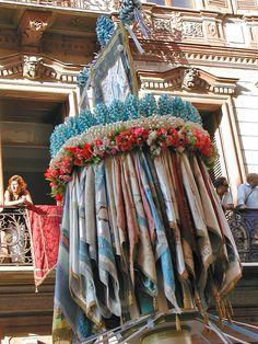 The 'Faradda di li candareri' – or Descent of the Candle bearers in Sassari Sardinia. Every August 14th.
