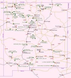 New Mexico Map w/National  Parks and Monuments