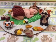 Baby with Forest Friends Cake Topper/Baby Shower by anafeke