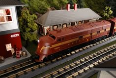 Find It Locally http://www.mthtrains.com/30-20253-1 Now arriving MTH RailKing O Gauge Pennsylvania E6 AA Set item 30-20253-1. This Pennsylvania E6 Set operates on O-31 Curves and have a MSRP of $369.95. Ask your MTH Dealer about a RailKing Diesel Today. Use the link above to Find It Locally at a MTH Dealer.