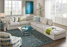 picture of Cindy Crawford Home Crosby Street Left 4 Pc Sectional from Living Room Sets Furniture : cindy crawford home sectional - Sectionals, Sofas & Couches