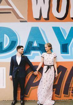 Electra + James // #Jewish #realwedding #flowers #inspiration #NSW #wedding #ceremony #reception #love #warehouse