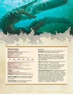Dungeons & Dragons — Dracodile and Dragonspawn from Iron Kingdoms...
