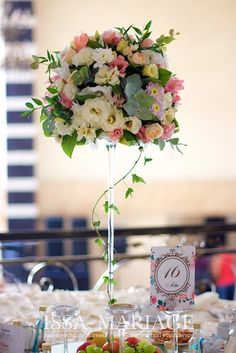 Crystal Palace, Flower Centerpieces, Our Wedding, Restaurant, Table Decorations, Flowers, Home Decor, Mesas, Wedding