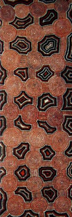 Yala Yala Gibbs Tjungurrayi / Tingari Cycle  1992  152 x 51 cm
